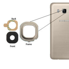 For Samsung Galaxy J5 2016 Back Camera Glass Lens + Frame Cover + Adhesive Gold