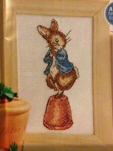 (N) Beatrix Potter Peter Rabbit Bunny Capers Plant Pot Cross Stitch Chart