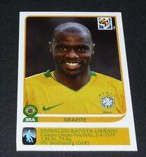 504 GRAFITE WOLFSBURG BRASIL EXTRA-STICKER PANINI FOOTBALL FIFA WORLD CUP 2010