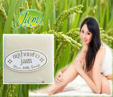 JAM THAI SOAP HERBAL RICE MILK WHITENING COLLAGEN ELIMINATE ACNE FACE BODY 60G