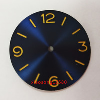 38.9mm Sandwich Pure Sterile Blue Dial fit ETA 6497/6498 Movement Watch