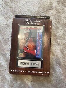MICHAEL JORDAN 1993-94 Upper Deck NBA Finals MVP Chicago Bulls Basketball Plaque