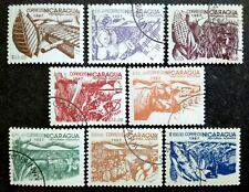 Nicaragua 1986 Agrarian Reform Complete Set - 8v Used
