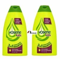 2x Vosene Kids 3 In 1 Conditioning Shampoo Head Lice Repellent - 250 ml