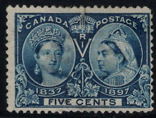 Canada Stamp #54 - Queen Victoria Jubilee (1897) 5¢ used