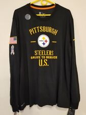 PITTSBURGH STEELERS Nike 2019 Salute to Service Sideline Shirt MENS XL
