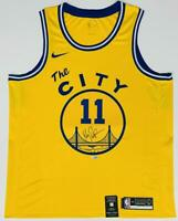 KLAY THOMPSON Autographed Warriors Gold Nike 'The City' Jersey FANATICS