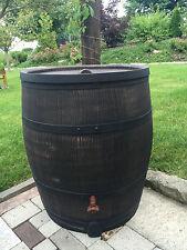 Regentonne in Weinfass Optik 240 Liter Wasserspeicher Regenwasser Regenspeicher