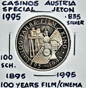 1995 Casinos Austria 100 Schilling Special Token - 100 Years of Film