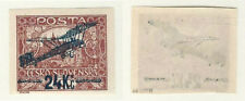 Czechoslovakia, Postage Stamp, #C2 VF Mint Hinged Signed, 1920 Airplane