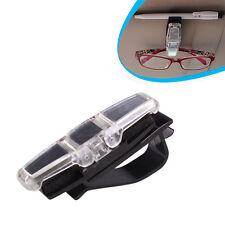 Car Sun Visor Clip Holder For Dual Sunglasses Eyeglass Reading Glasses Card Pen^