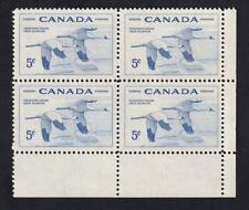 Canada 1955 sc#353 Whooping Cranes, MNH LR block