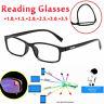 1.0 to 3.5 Retro Reading Glasses Full Frame Eyeglasses Anti Glare Trendy Desiger
