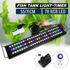 RGB LED Aquarium Beleuchtung Vollspektrum Halterungen + 24 Hour Timer Steckdosen