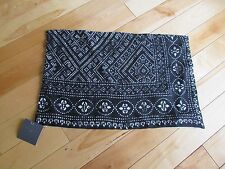 Restoration Hardware Black Decorative Linen Throw Pillow Cover Size 13x21