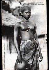 ETHNIQUE (SENEGAL) FEMME MANDINGUE , Buste avec BIJOUX