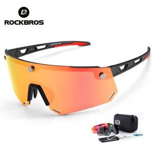 ROCKBROS 2 Lens Sports Magnetic Split Sungalsses Cycling Polarized HD Glasses