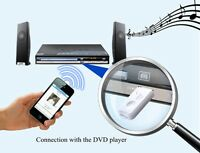 Bluetooth Wireless USB Stereo Audio Music Receiver Adapter For Car Home Speaker
