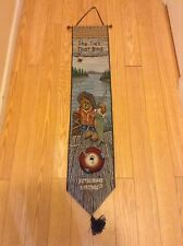 Boyds Bears Bearly Floatin Fishing Bell Pull 9x41 The Ties That Bind Preowned
