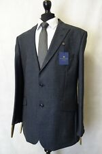 Men's New Alexandre Savile Row Navy Check Regular Fit Suit 44R W40 L31 AA2948