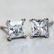 Gold Plated Silver plated crystal Stud Earrings free shipping for men women