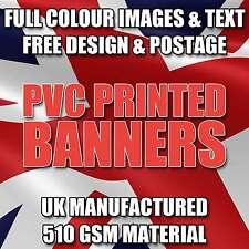 6FT X 4FT PVC VINYL BANNER SIGN FOR OUTDOOR ADVERTISING - FREE DESIGN