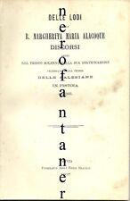 Delle lodi della B.Margherita Maria Alacoque-Discorsi....Pistoia 1867