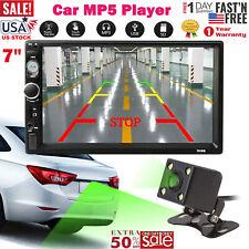 "Wireless Car Stereo Radio 2 DIN 7"" HD MP5 FM Player Touch Screen + Rear Camera"