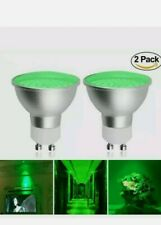2x MR16 GU10 5w LED Bulbs Spotlight 2835 SMD Lamps 50w Replacement Green Colour