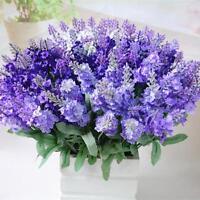 10 Heads Artificial Silk Bouquet Lavender Flower Wedding Party Home Decor CX