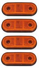 4x LED 24V orange Seite Begrenzungsleuchten LKW Anhänger Bus Wohnmobil