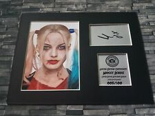 More details for margot robbie - harley quinn - signed autograph display - suicide squad