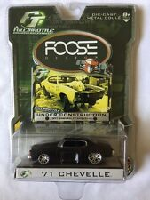JL Full Throttle Foose Design Under Construction 1971 Chevelle Black 1/64 Scale