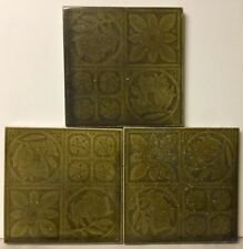 "Lot Of 3 ""Maw & Co Broseley Salop� Antique Tile 6� X 6�"