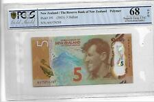 New Zealand/The Reserve Bank of New Zealand Pick#191 2015 5 Dollars PCGS 68 OPQ