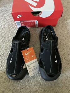 Youth Nike Sunray Protect 2 Sandal Black Kid's Size 1Y NEW