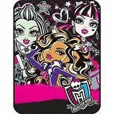 Mattel Monster High Throw Micro Raschel Heavy Soft Blanket new