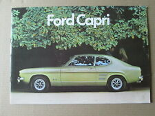 Ford Capri Brochure. 1300,1600. 1300GT,1600GT,2000 GT and 3000GT. Ford brochure