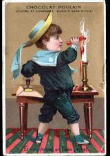 IMAGE CHROMO CHOCOLAT POULAIN / ENFANT & CACHET de CIRE au COURRIER