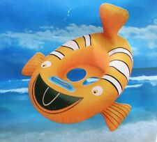 Clownfish shape Kids Baby Inflatable  Swimming Pool Raft Floating Seat Boat Ring