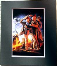 Back To The Future III Movie Art Poster Print Matted
