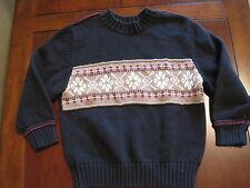 Carters Boy Black Tan Nordic Print Cotton Pullover Sweater Size 5 EUC