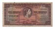 BERMUDA 5 SHILLINGS 1952 PICK 18 A LOOK SCANS