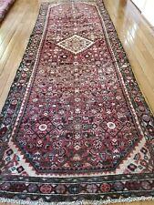 New listing 3.6 x 10.5 Antique Veg Dye Caucasian Heriz Serapi Kazak Vintage Ushak Shirvan
