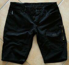 G-Star Kurze Hose Short | Biker Low Tapered 1/2 Coj Wornout Black Schwarz W29  S