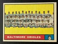 1961 Topps #161 Baltimore Orioles Team Card EXMT
