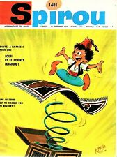 ▬► Spirou Hebdo - n°1481 du 1er Septembre 1966 - SANS mini-récit TBE
