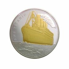 Titanic Coin Medal Ship Voyage Map Amazing Collectible London Proof B177