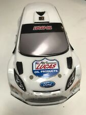 HPI Micro RS4 Painted Body Ford Focus Lucas Oil 1/24 Drift Mini 140mm White