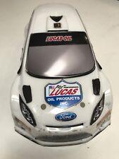HPI Micro RS4 Painted Body Ford Focus Lucas Oil 1/24 Drift Mini 140mm White
